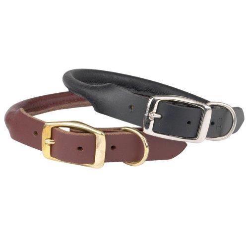 Rolled Leather Dog Collar Australia